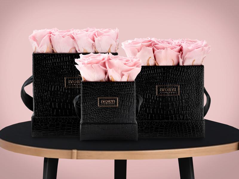 ivoryi friends ivoryi flowerbox-flowerbox online shop interior grace infinity flowers rosa